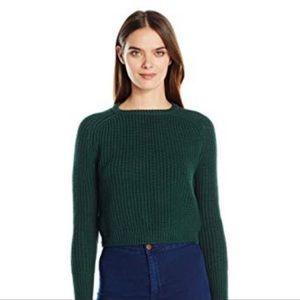 EUC American Apparel Cotton Sweater Crop Green
